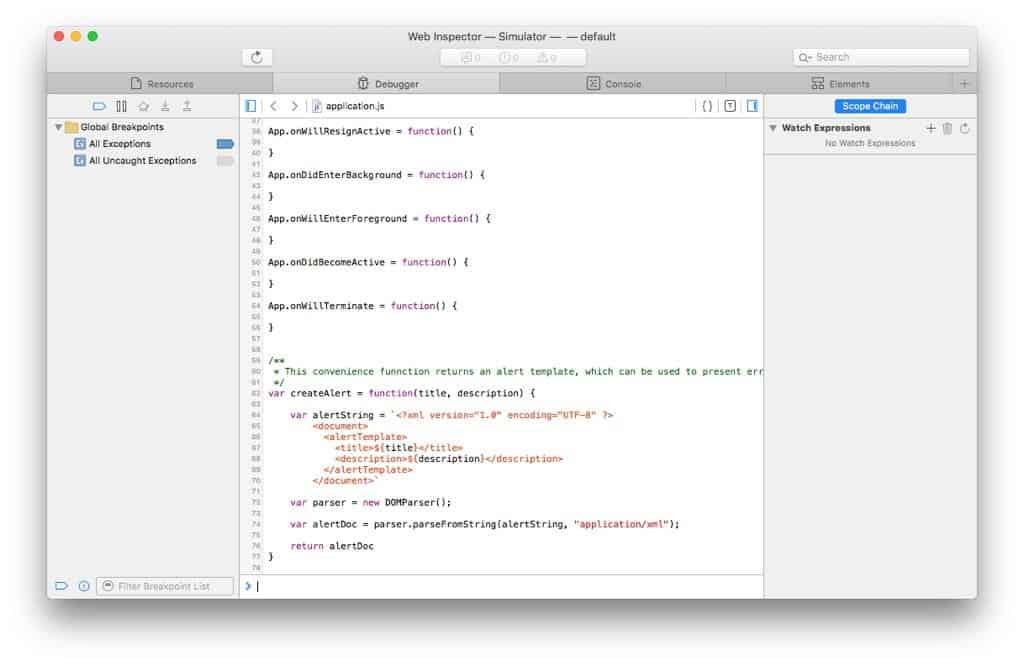Making Apple TV Apps, Part 11: Debugging a TVML-Based tvOS